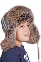Детская шапка-ушанка на синтепоне с мехом