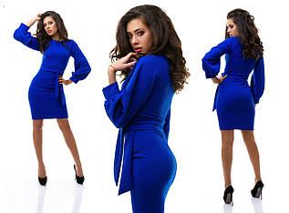 Синее платье трикотажное электрик кукуруза весеннее
