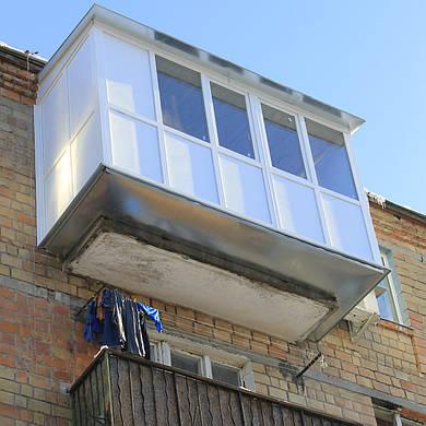 Французский балкон под ключ с выносом по полу