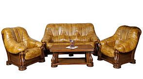 Кожаный трехместный диван Mercedes (210 см), фото 2