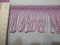 Бахрома декор шовкова фіолет світлий  5см.