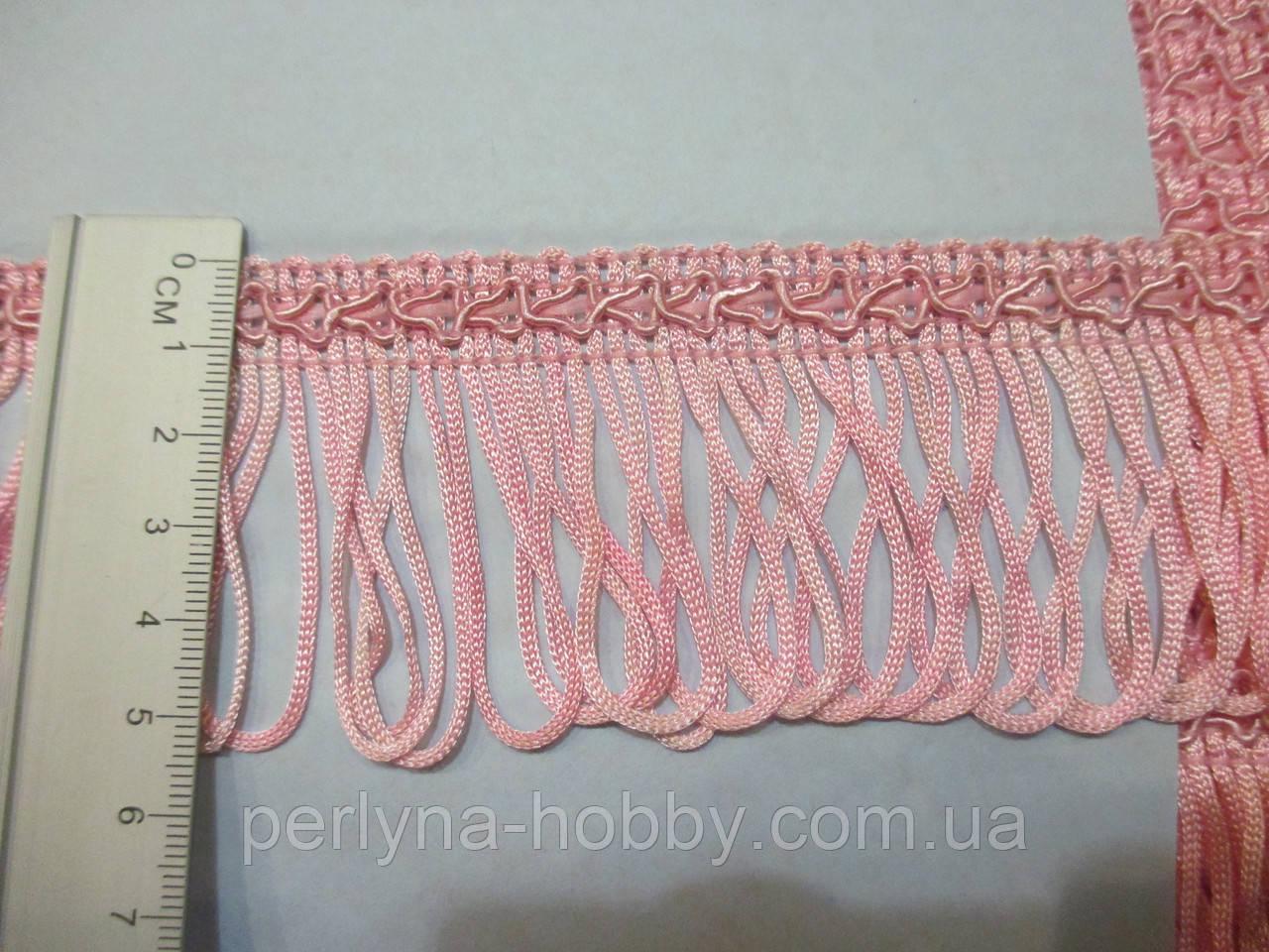 Бахрома декор шовкова рожева 5см.