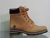 Стильные женские кожаные ботинки зима