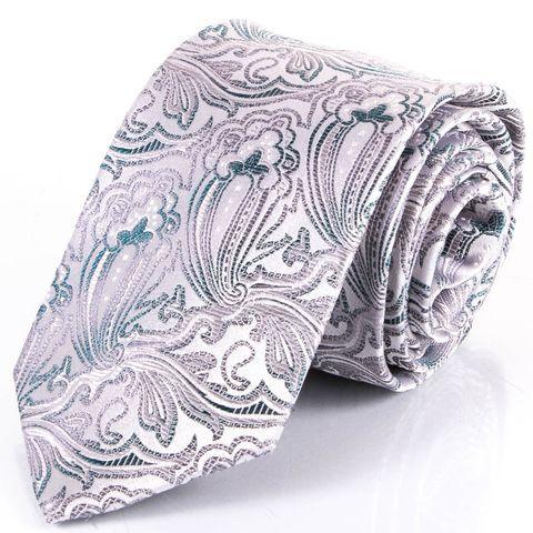 Чоловіча краватка з шовку SCHONAU & HOUCKEN FARESHS-16 -сірий