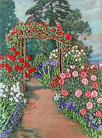 Набор для вышивания лентами Арка в розах НЛ-3009