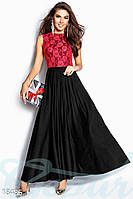 Нарядное вечернее платье. Цвет красно-черный.