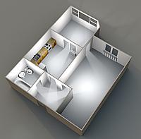 Однокомнатные квартиры 42,96 кв.м. 13 этаж__29000