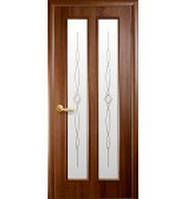 """Двери ПВХ """"Стела"""" 80 р2 (зол. ольха/венге)"""