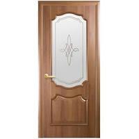 """Дверь ПВХ """"Вензель"""" 80 р2 (зол. ольха/венге)"""
