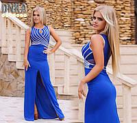 Платье женское длинное вечернее с разрезом P4388