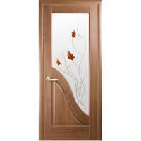 "Двери ПВХ ""Амата"" 80 р1 (зол. ольха)"