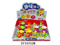 Заводные игрушки, паровозик, разноцветные, 12 штук в упаковке. Паровозик 632. Заводной паровоз EF10352M