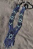 Жіночий гердан в чорно-синіх кольорах (Женский гердан в черно-синих цветах) AG-0041