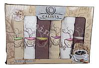 Набор вафельных кухонных полотенец 6 шт. 40х60 Calista Coffee Кофе, фото 1