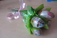 """Букет из шоколадных яиц """"Kinder surprise"""" киндер сюрприз-5шт."""