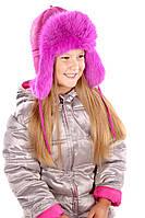 Малиновая шапка для девочки