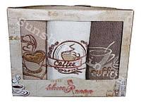 Набор махровых кухонных полотенец 3 шт. 30х50 Three Roses Coffee Кофе, фото 1