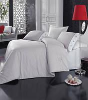 Турецкое постельное бельё евро размера Cotton Box Plain GRI CB06