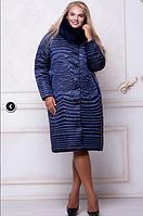 Зимнее двубортное плащевое пальто