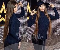Женский вязаный свитер с узором