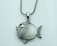 Видный кулон -рыбка с камнями. Новогодняя коллекция кулонов на жгутиках. 207