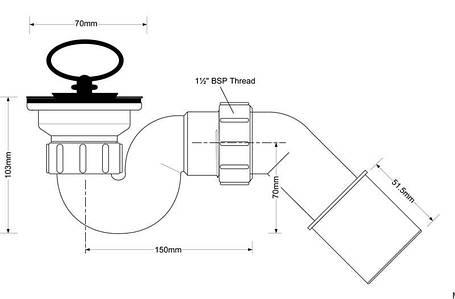 Сифон для душевых поддонов ТМ McAlpine HC 25-POL, фото 2
