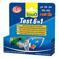 Tetra test 6 в 1 - полоски для проверки 6 важных параметров качества воды