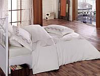 Турецкое постельное бельё с вышивкой Cotton Box REMEMBER BEYAZ CB07