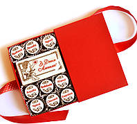 """Шоколадные подарки для женщин. Подарочный набор конфет """"С Днем Ангела"""""""