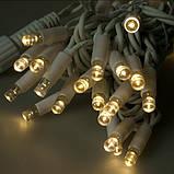 Светодиодная гирлянда БАХРОМА МЕРЦАНИЕ 3*0.5м, каучуковый кабель, цвет тепло-белый, фото 4
