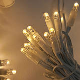 Светодиодная гирлянда БАХРОМА МЕРЦАНИЕ 3*0.5м, каучуковый кабель, цвет тепло-белый, фото 7