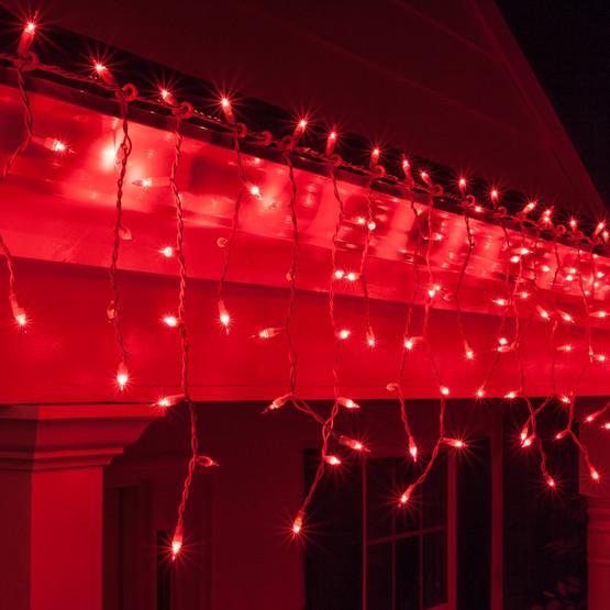 Світлодіодна гірлянда БАХРОМА МЕРЕХТІННЯ 3*0.5 м, каучуковий кабель, колір червоний