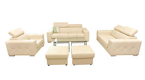 Современный трехместный диван в коже Etna (208 см), фото 2