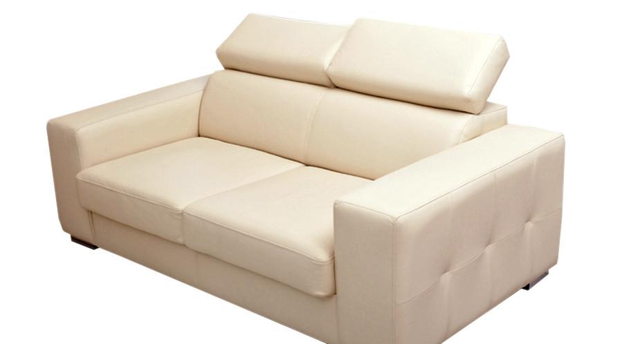 Современный трехместный диван в коже Etna (208 см)