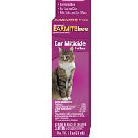SENTRY БЕЗ УШНОГО КЛЕЩА (EARMITE free) капли с алоэ против ушного клеща для котов (0,029 л)