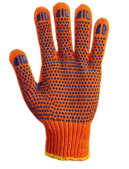 Рукавички з ПВХ малюнком помаранчеві