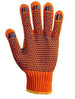 Перчатки с ПВХ рисунком оранжевые
