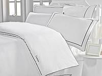 Изысканное сатиновое постельное белье ЕВРО размера с вышивкой Cotton Box Mahur CB07
