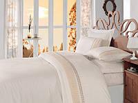 Турецкое постельное бельё с вышивкой Cotton Box GOLD EKRU CB07