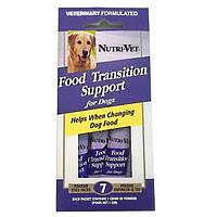Nutri-Vet ПОМОЩЬ ПРИ СМЕНЕ КОРМА (Food Transition Support) добавка для собак с пребиотиками и полезными бактериями, порошок, стик