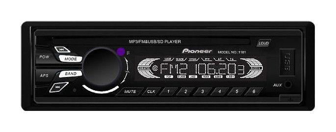 \Автомагнитола в машину Pioneer 1181 многофункциональная (MP3, USB, AUX, FM, MicroSD)
