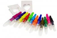 Bark Art Blow Pen Уникальные цветные картриджи-фломастеры для нанесения рисунка на шерсть методом выдувания, 12шт