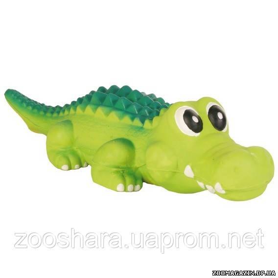 Trixie Латексный крокодил игрушка для собак, 35 см.