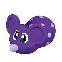 Trixie Латексная Игрушка для собак Мышь в горошек, 8 см.