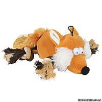 Trixie Лиса с лапами-канатами игрушка для собак с пищалкой, 34 см.
