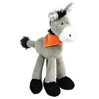 Trixie Плюшевая игрушка для собак осёл с платком на шее, 24 см.