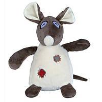Trixie Плюшевая игрушка для собак Крыса с заплатками, 16 см.