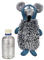 Trixie Плюшевая игрушка для собак Крыса с бутылкой внутри, 21 см.