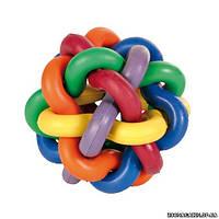 Trixie Игрушка мяч из переплетенных цветных колец, o 7 см.