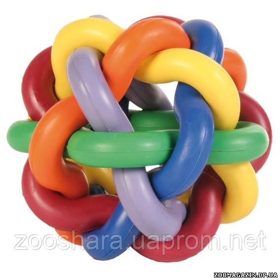 Trixie Игрушка мяч из переплетенных цветных колец, o 10 см.